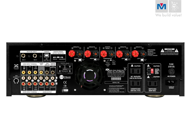 Picture of (M) BETTER MUSIC BUILDER DX-288 G3 900 WATTS MIXING AMPLIFIER