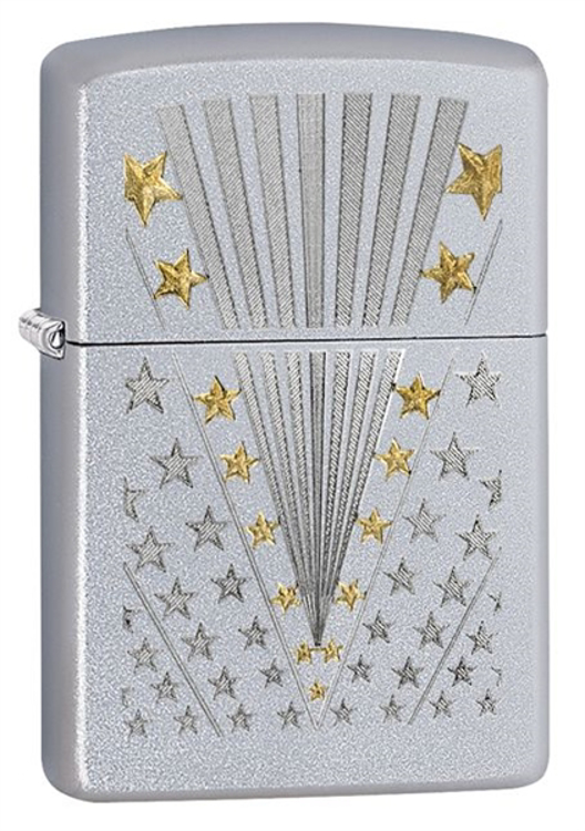 Picture of ZIPPO #28277 FLAG SATIN CHROME