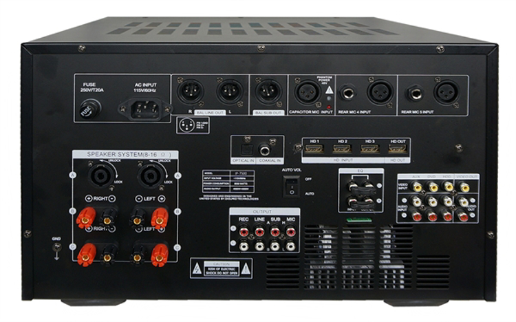 Picture of IDOLmain IP-7500 8000W Max Output Professional Digital Console Mixing Amplifier