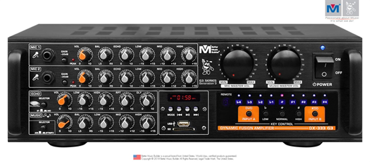 Picture of (M) BETTER MUSIC BUILDER DX-333 G3 700W KARAOKE MIXING AMPLIFIER WITH BUILT-IN BLUETOOTH