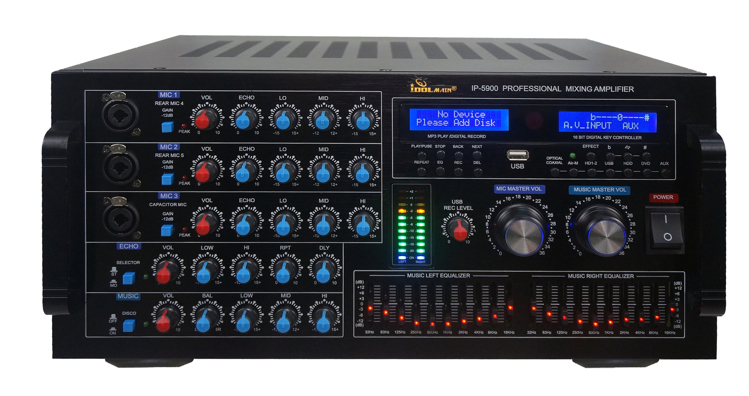 Picture of IDOLmain IP-5900 6000W Digital Echo Karaoke Mixing Amplifier With Repeat/Delay Control, HDMI/Optical Inputs NEW 2020