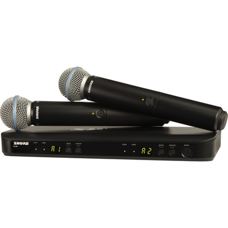 Picture of Shure BLX288/Beta58 Dual Channel Wireless Handheld Microphone System
